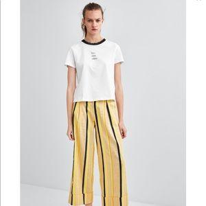 Zara Trafaluc White Slogan T-Shirt 💞